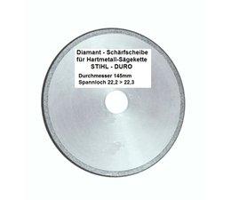 """Diamantscheibe Schärfscheibe Schleifscheibe für Hartmetall- Sägeketten Stihl Duro 3/8"""" Picco + .325"""" 145mm x 3,2mm Bo. 22,2mm R-M"""