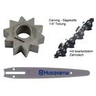"""Carving Umrüstung 1/4"""" 25cm Husqvarna 317 / 321 EL Elektro - Kettensäge"""