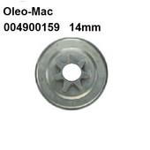"Kettenrad Oleo-Mac 264F 350AF 350S 355 Kettenteilung 3/8"" Spurkettenrad 14mm Lagerdurchmesser"