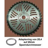 Rodungssägeblatt Red Mountain Hartmetall 255 x 20 / 25,4 Bo HD Sägeblatt 40 Zahn 2,0mm für Freischeider