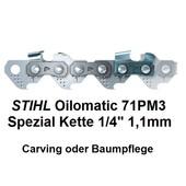 """Sägekette für 35cm Schwert 1/4"""" 72 Trgl. 1,1 Nut Micro 71PM3 Stihl Akku Kettensäge Hochentaster und Baumpflege"""