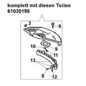 Schutz Schutzhaube Fadenschneider Freischneider efco  Stark 25 2500 D IC S T Anschlagschutz emak