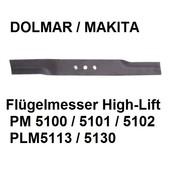Rasenmähermesser 51cm Dolmar PM-5100 PM-5101 PM-5102 C R S3  Flügelmesser