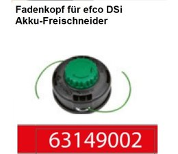 Fadenkopf Efco Dsi Akku-Freischneider Emak Load&GO Kopf 2,0 mm Faden 8x1,25 li. Innen Anschluss