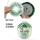 Mähfaden 3,0 mm Ersatzfaden Cassette Speed&Go emak Fadenkopf 10 x 5,5m Pack spezial Kontur für Motorsense und Freischneider emak Kopf