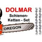 """Schwert 38cm Dolmar Schneidgarnitur 1+2 Ketten 3/8"""" Kettenteilung PS 630 6400 6800 7300 7310 7900 7910"""