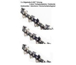 """Sägekette 3 x 0.325"""" Teilung 66 Treibglieder 1,3mm Nutbreite Sicherheitsverbindungsglieder"""