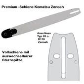 """Schwert 50cm Komatsu - Zenoah 3/8"""" Profi Kettenteilung 1,5 Nutbreite Sägekette 72 Trgl. PowerMatch Vollschiene mit Sternspitze"""