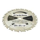 Rodungssägeblatt Hartmetall Sägeblatt 250 x 20 Bo. x 1,8mm 20 Zahn 3,0mm für Freischneider + Motorsense große Räumer