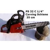 "Carvingsäge Dolmar PS-32 C 1/4"" + Ersatzkette 35cm Carving-Schwert 2cm Spitze Kettensäge bearbeitete Sägekette"