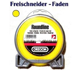 Mähfaden 4,0 mm x 32 m Oregon Roundline rund gelb für Motorsense und Freischneider