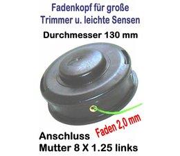 Fadenkopf Oleo-Mac TR + Efco 8110 elektr. Freischneider / Trimmer 8x1.25 li. Durchmesser 130mm