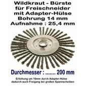 Wildkrautbürste Radial- Drahtbürste 200mm x 25,4 Bo. mit Adapter-Hülse für Freischneider und Motorsense