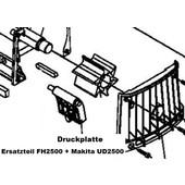 Häcksler Ersatzteil Prallplatte Dolmar FH2500 + Makita UD2500 elektrischer Gartenhäcksler