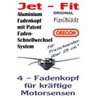 Mähkopf / Fadenkopf Oregon Jet-Fit -4- für Freischneider / Motorsense auf der Messerspannscheibe