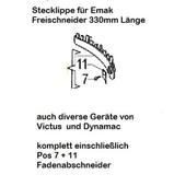 Schutz Stecklippe für Schutzhaube mit Fadenschneider für Freischneider emak  Oleo-Mac Sparta 25 250 26 433 DB 726 727