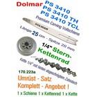 "Carving Umrüstung 1/4"" 25cm Dolmar PS 3410 TH + TCL Kettensäge 1x Dolmar-Schwert 1x Kettenrad 1x Sägekette"