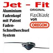 Mähkopf / Fadenkopf Oregon Jet-Fit -2- für Freischneider / Motorsense auf der Messerspannscheibe