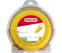 Mähfaden 2,4 mm x 111 m Oregon Starline sternförmig gelb für Motorsense und Freischneider