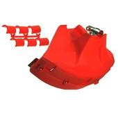 Schutz Anschlagschutz Freischneider große Schutzhaube Steinschlagschutz Kunststoff rot