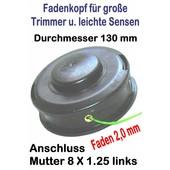 Fadenkopf Oeo-Mac TR 100 E + TR 101 E + TR 111 + TR 130 E elektr. Trimmer + Motor Freischneider / Trimmer OM 720 gebogener Schaft