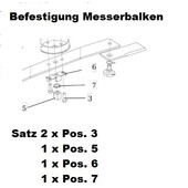 Rasenmähermesser Befestigungsteile Satz für Messerbalken Emak efco Tuareg Tonkawa Gestrüppmäher Hochgrasmäher