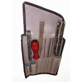 """Schärfset OZAKI in Rolltasche für Sägeketten mit Feile 5,5 mm Kettenteilung 3/8"""" Pro + 0.404"""""""