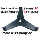 Freischneider Mulchmesser 3-Zahn 90° 300 x 20 x 4 mm Dickichtmesser für Motorsense