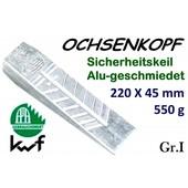 Forstkeil 215 x 45 mm 550g Ochsenkopf Alu-Keil Größe 1 Spaltkeil zum Holz Spalten und Fällen