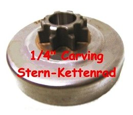 "Carving Kettenrad 1/4"" Oleo-Mac 925 / efco 125 - TH Spurkettenrad Carving-Holzschnitzen Kettensäge"