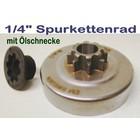 """Carving Kettenrad 1/4"""" + Ölschnecke Husqvarna 336 339XP Kettensäge Holzschnitzen"""