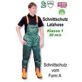 Schnittschutzhose Gr. 56 Latzhose mit Schnittschutz Form A vorn Kl.1 20m/s für Kettensäge