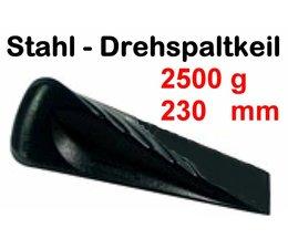 Forst Drehspaltkeil 2,5 Kg Stahlkeil geschmiedet 23cm Spaltkeil zum Holzspalten schwieriger Stücke
