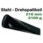 Forstkeil Drehspaltkeil  2 Kg Spaltkeil 21cm Stahlkeil für Brennholz Stahl geschmiedet