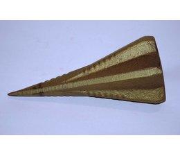 Forst Drehspaltkeil 1,75 Kg Stahlkeil geschmiedet 18cm Spaltkeil zum Holzspalten schwieriger Stücke