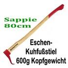 Handsappie Sappie Bison 80cm Eschenstiel Kuhfuß-Form Kopfgewicht 600g ( Sappel )