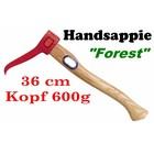 Sappie Handsappie 38cm 600g Forest-G mit Eschenstiel Kurzstielsappie für Forstarbeit und Brennholz