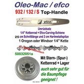 "Carving Umrüstung 1/4"" 25cm Oleo-Mac 932 efco 132 S Kettensäge Top-Handle Schwert Kettenrad 1/4"" Sägekette"