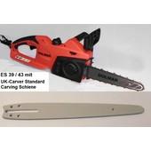 Carvingsäge Dolmar ES-39 Makita UC 3041 25cm Standard Schwert Elektro- Kettensäge Carving Holzschnitzen