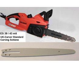 Carvingsäge Dolmar ES-39 / 43 TLC 25cm Standard Schiene 2cm Spitze Elektro- Kettensäge Carving Holzschnitzen