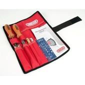 """Schärfsatz Rolltasche OREGON 4,0mm 1/4"""" Carving Holzschnitzen Kettenteilung Sägeketten für 1,3mm Nutbreite"""