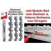 """Schneidgarnitur Dolmar ES PS Kettensäge QuickSet Schwert 35cm + 3 x Sägekette 52 Trgl. 3/8"""" H 1,1mm Nutbreite"""