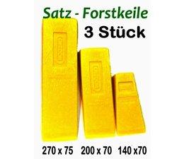 Fällkeile Forstkeile Keil Satz 3 Stück aus Spezial- Kunststoff Oregon Länge 270 + 200 + 140 mm