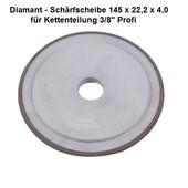 """Diamantscheibe Schärfscheibe für Hartmetall- Sägeketten Stihl Duro 3/8"""" Profi 145mm x 4,0mm Bohr. 22,2mm"""