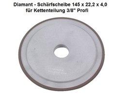 """Diamantscheibe Schärfscheibe für Hartmetall- Sägeketten Stihl Duro 3/8"""" Profi Durchmesser 145mm Bohr. 22,2mm"""