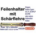 """Feilenhalter Schärflehre mit Feile 4,8mm für Kettensäge mit 0.325"""" Kettenteilung alle Nutbreiten"""