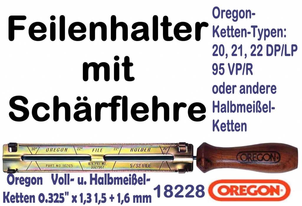 Schärfset Feilenhalter Feile für Sägeketten 4,8 mm  NEU