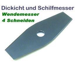 Freischneidermesser 255 / 20 mm 2-Zahn Schilfmesser u. Dickichtmesser für Motorsense u. Freischneider