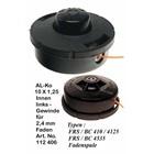 Fadenkopf Alko Modell FRS / BC 410 + 4135 + 4535 für Freischneider Motorsense M10 x 1,25 Li.Innengewinde