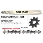 "Carving Umrüstung 1/4"" 25cm Makita UC 3041A UC 3541A + UC 4041A Elektro- Kettensäge komplett Satz"